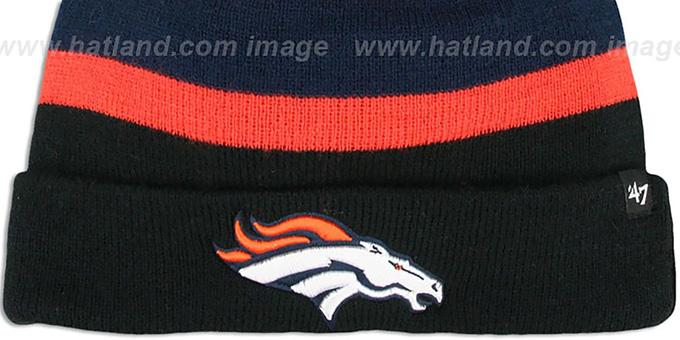 8872dd241 Denver Broncos NFL BREAKAWAY Black Knit Beanie Hat by 47 Brand