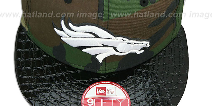 Broncos 'NFL CAMO-CROC STRAPBACK' Adjustable Hat by New Era