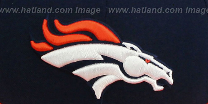 Broncos 'NFL JERSEY-BASIC' Navy-Orange Fitted Hat by New Era