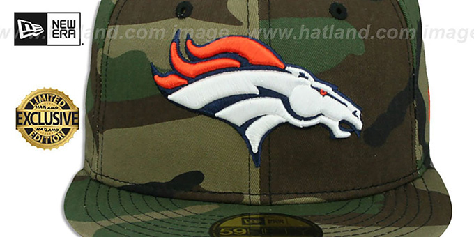 Broncos 'NFL TEAM-BASIC' Army Camo Fitted Hat by New Era