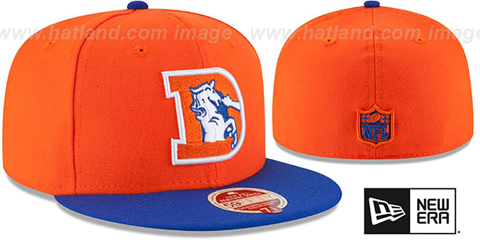 Broncos 'NFL THROWBACK WOOL-STANDARD' Orange-Royal Fitted Hat by New Era