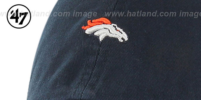 Broncos 'POLO STRAPBACK' Navy Hat by Twins 47 Brand