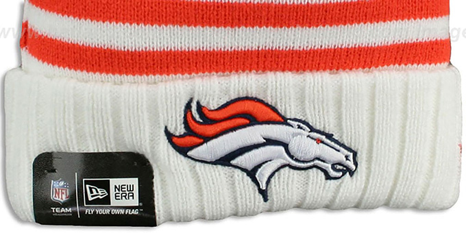 Broncos 'SNOWFALL STRIPE' Knit Beanie Hat by New Era