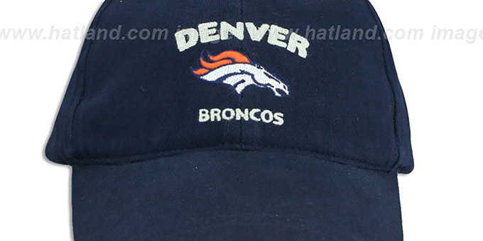 Broncos 'STAMP' Strapback Navy Hat by SPL28