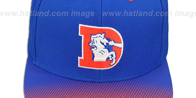 Broncos 'STOP-ON-A-DIME SNAPBACK' Royal-Orange Hat by Mitchell and Ness