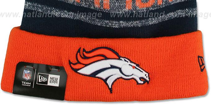 61d7b58340efea ... Broncos 'SUPER BOWL 50 CHAMPS' Knit Beanie Hat by New Era ...