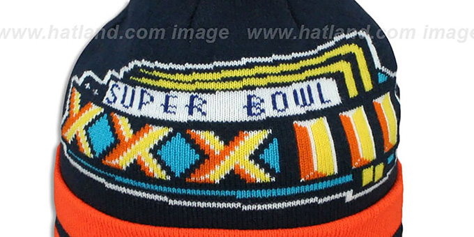 Broncos 'SUPER BOWL XXXIII' Navy Knit Beanie Hat by New Era