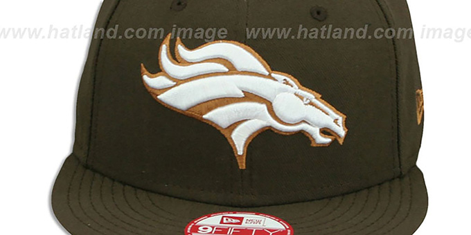 Broncos 'TEAM-BASIC SNAPBACK' Brown-Wheat Hat by New Era
