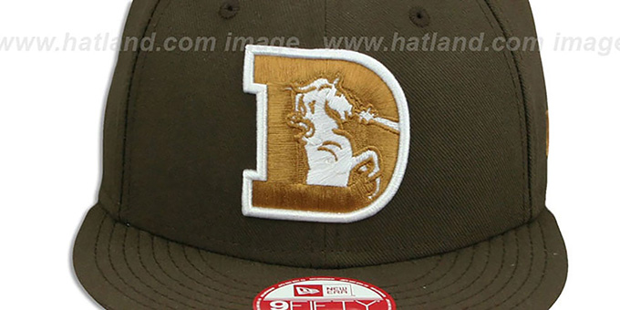 Broncos 'THROWBACK TEAM-BASIC SNAPBACK' Brown-Wheat Hat by New Era