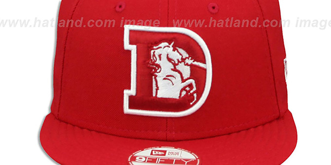 Broncos 'THROWBACK TEAM-BASIC SNAPBACK' Red-White Hat by New Era