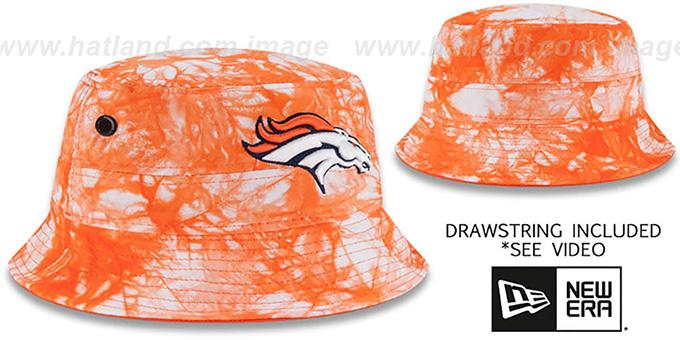 827f9be51 Denver Broncos TYE-DYE ZONE Bucket Hat by New Era