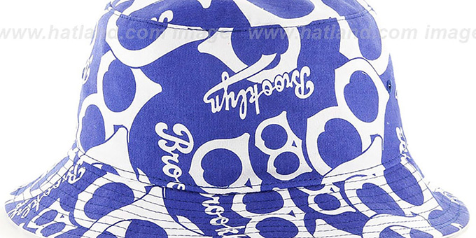 Brooklyn Dodgers 'COOP BRAVADO BUCKET' Hat by Twins 47 Brand