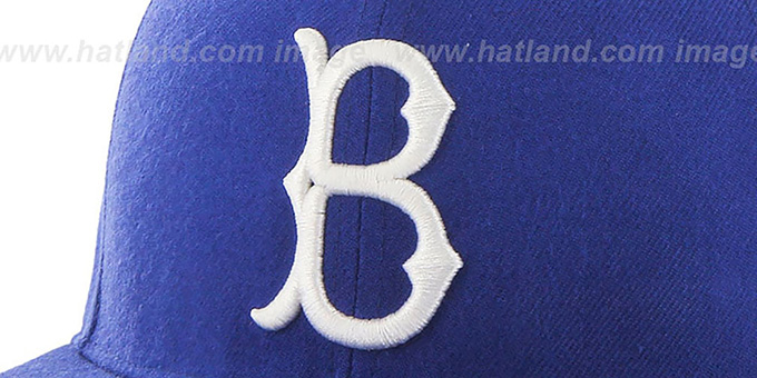 Brooklyn Dodgers 'COOP HOLE-SHOT' Royal Fitted Hat by Twins 47 Brand