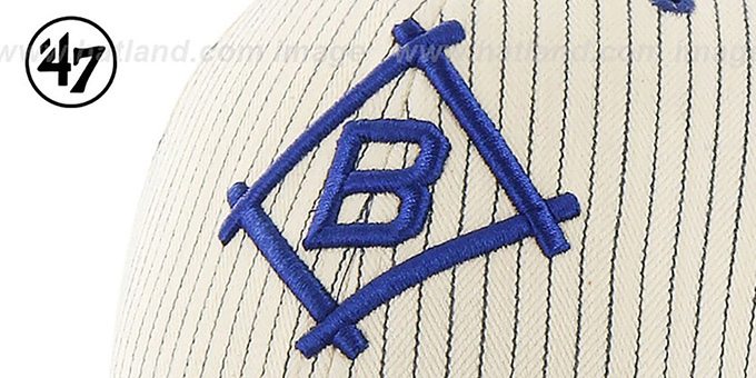 Brooklyn Dodgers 'HOME-RUN PINSTRIPE STRAPBACK' Hat by Twins 47 Brand