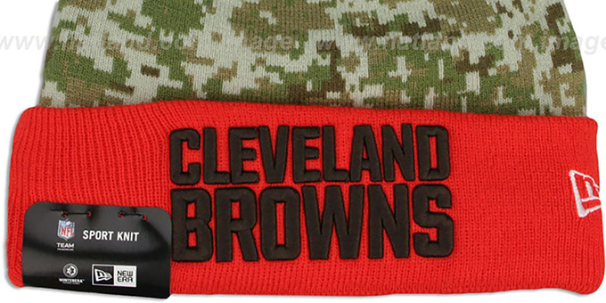 Browns '2015 SALUTE-TO-SERVICE' Knit Beanie Hat by New Era