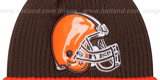 Browns 'CHILLER FILLER BEANIE' Brown-Orange by New Era