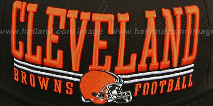 Browns 'NFL LATERAL SNAPBACK' Brown Hat by New Era