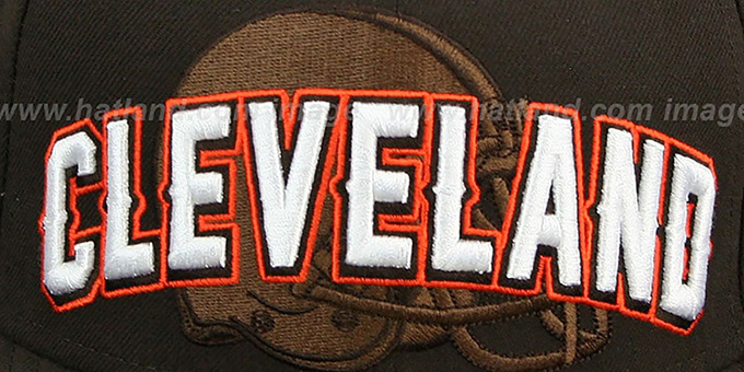 Browns 'NFL ONFIELD DRAFT' Brown Fitted Hat by New Era