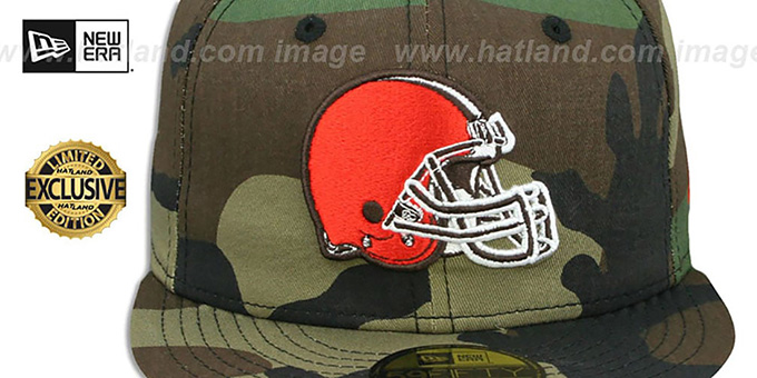 ... Browns  NFL TEAM-BASIC  Army Camo Fitted Hat by New Era ... 9a534b462