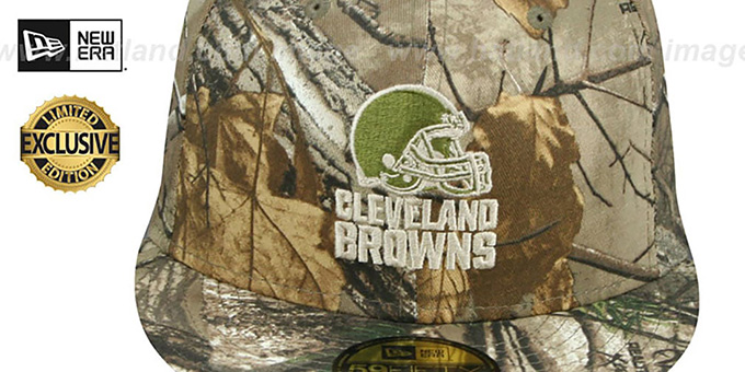 Browns 'NFL TEAM-BASIC' Realtree Camo Fitted Hat by New Era