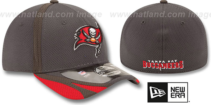 Buccaneers '2014 NFL TRAINING FLEX' Graphite Hat by New Era