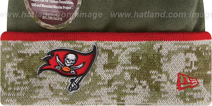 Buccaneers '2014 SALUTE-TO-SERVICE' Knit Beanie Hat by New Era