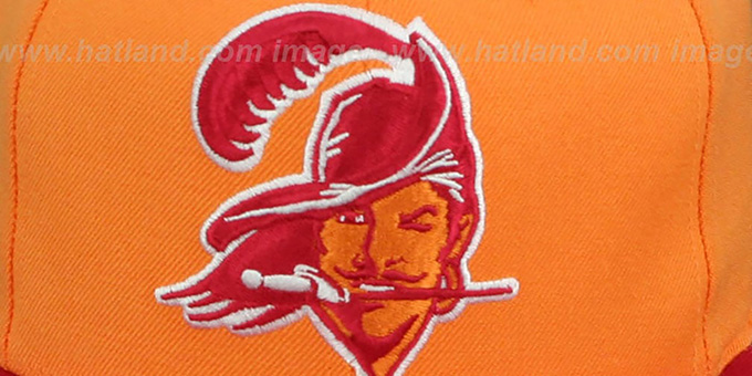 Buccaneers '2T XL-LOGO SNAPBACK' Orange-Red Adjustable Hat by Mitchell & Ness