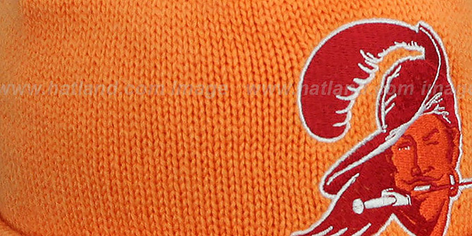 Buccaneers 'XL-LOGO BEANIE' Orange by Mitchell and Ness
