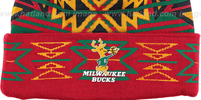 Bucks HWC 'GEOTECH' Knit Beanie by Mitchell and Ness