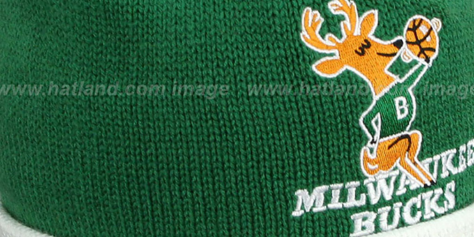 Bucks 'XL-LOGO BEANIE' Green by Mitchell and Ness
