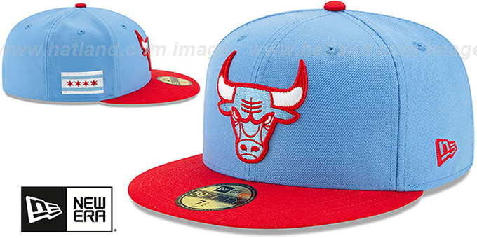 Bulls 19-20 'CITY-SERIES' Sky-Red Fitted Hat by New Era