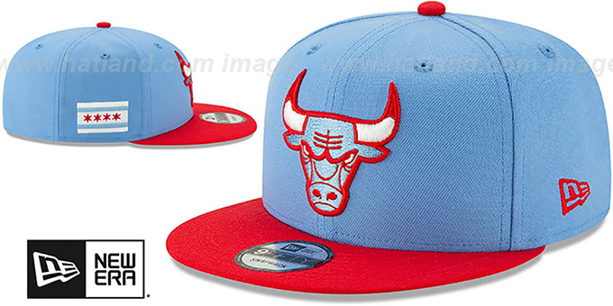 Bulls 19-20 'CITY-SERIES' SNAPBACK Sky-Red Hat by New Era
