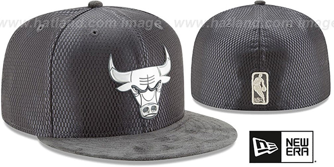 Bulls '2017 ONCOURT' Charcoal Fitted Hat by New Era