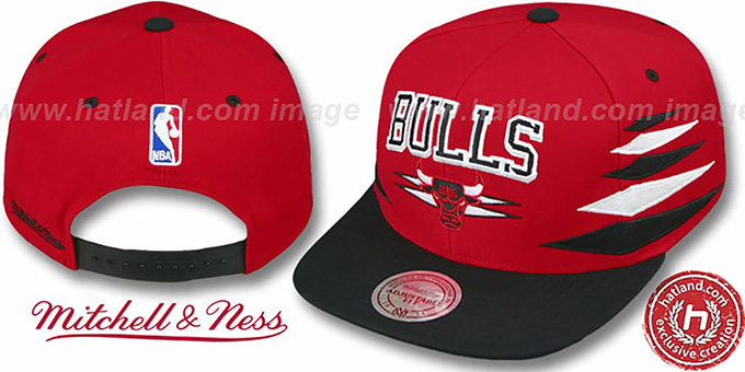 fa62c64ba Chicago Bulls 2T DIAMONDS SNAPBACK Red-Black Adjustable Hat by Mitchell &  Ness