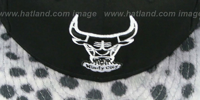 Bulls 'DALMATION ANIMALISTIC-FUR VIZA STRAPBACK' Hat by New Era