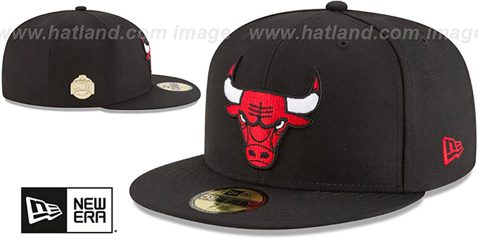 Bulls 'GILDED TURN' Black Fitted Hat by New Era