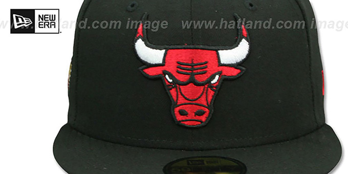 Bulls 'GOLDEN-HIT' Black Fitted Hat by New Era
