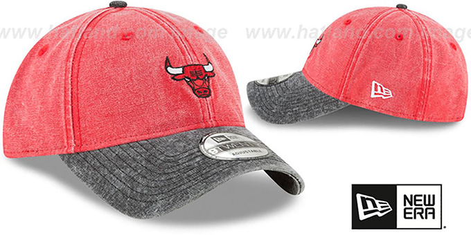 Bulls 'GW RUGGED CANVAS STRAPBACK' Red-Black Hat by New Era