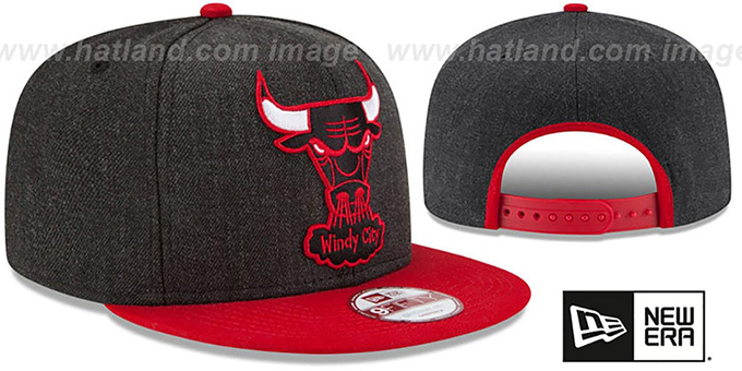 Bulls 'LOGO GRAND SNAPBACK' Charcoal-Red Hat by New Era