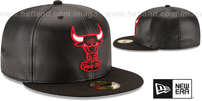 Bulls 'PERFECTLY STATED' Black-Black Fitted Hat by New Era