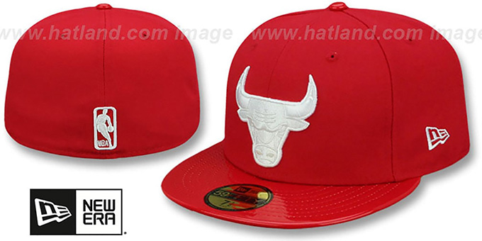 Bulls 'SCARLET HOOK' Red Fitted Hat by New Era