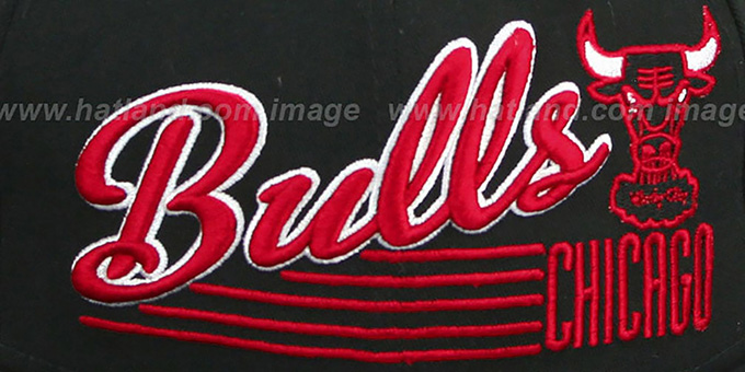 Bulls 'SCRIPT-STRIPE SNAPBACK' Black Hat by New Era