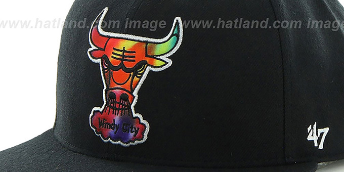 Bulls 'SHAKEDOWN' Black Fitted Hat by 47 Brand