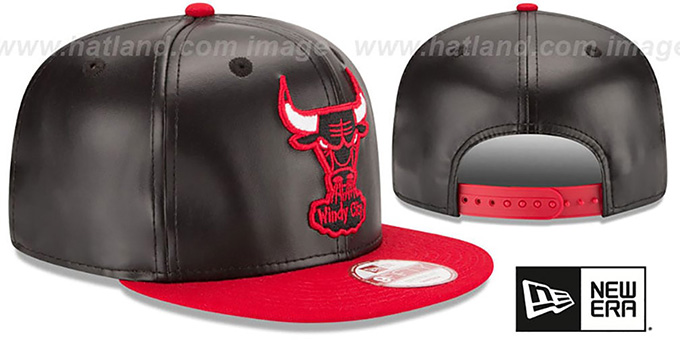 Bulls 'SMOOTHLY STATED SNAPBACK' Black-Red Hat by New Era