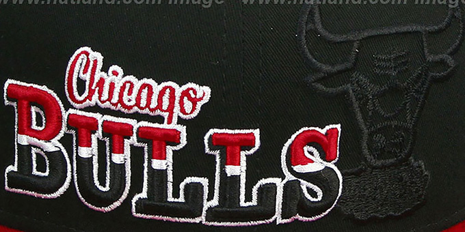 Bulls 'SPLIT-BLOCK SNAPBACK' Black-Red Hat by New Era