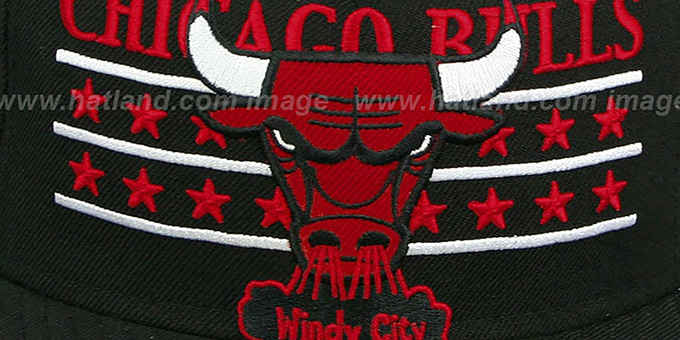 Bulls 'STAR STUDDED' Black Fitted Hat by New Era