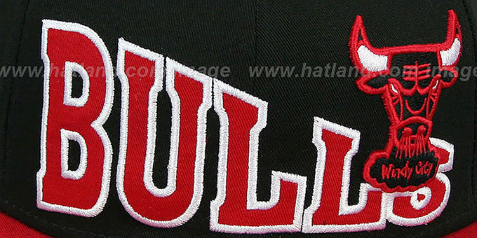 Bulls 'STOKED SNAPBACK' Black-Red Hat by New Era