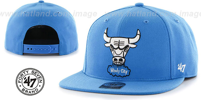 Bulls 'SURE-SHOT SNAPBACK' Blue Hat by Twins 47 Brand