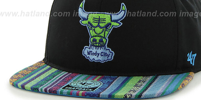 Bulls 'THE-DUDE SNAPBACK' Black-Green Hat by Twins 47 Brand