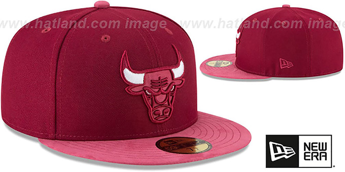 a3b92e1fbdf Chicago Bulls TONAL-CHOICE Burgundy Fitted Hat by New Era